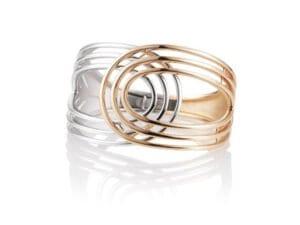 Breuning two tone silver bracelet