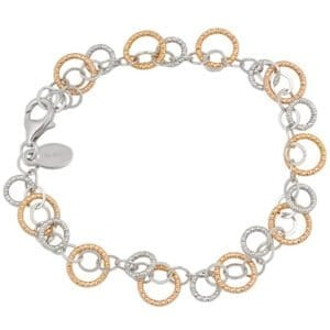 Sterling Silver & rose Gold bracelet