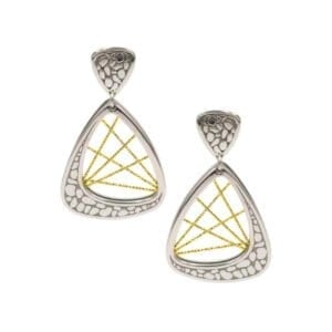 Sterling Silver & yellow Gold earrings