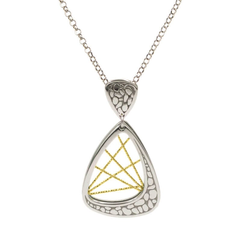 Sterling Silver & yellow gold necklace