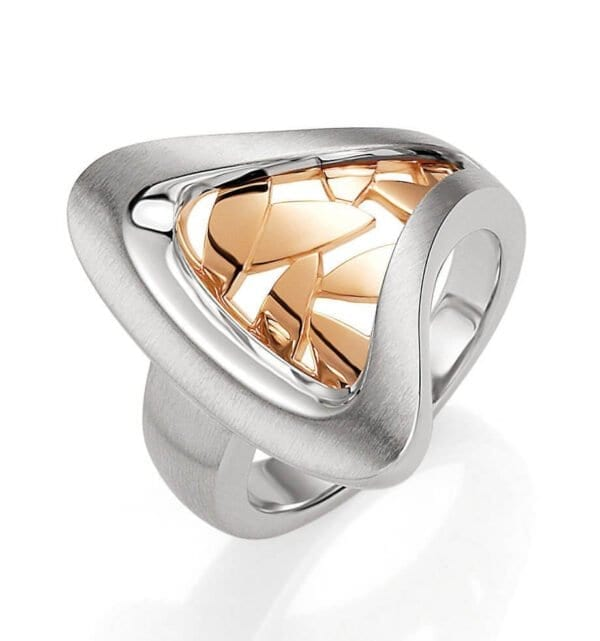 Sterling Silver & rose Gold Rings