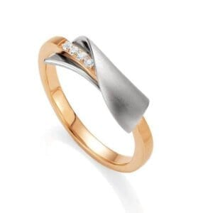 Sterling Silver & rose Gold ring
