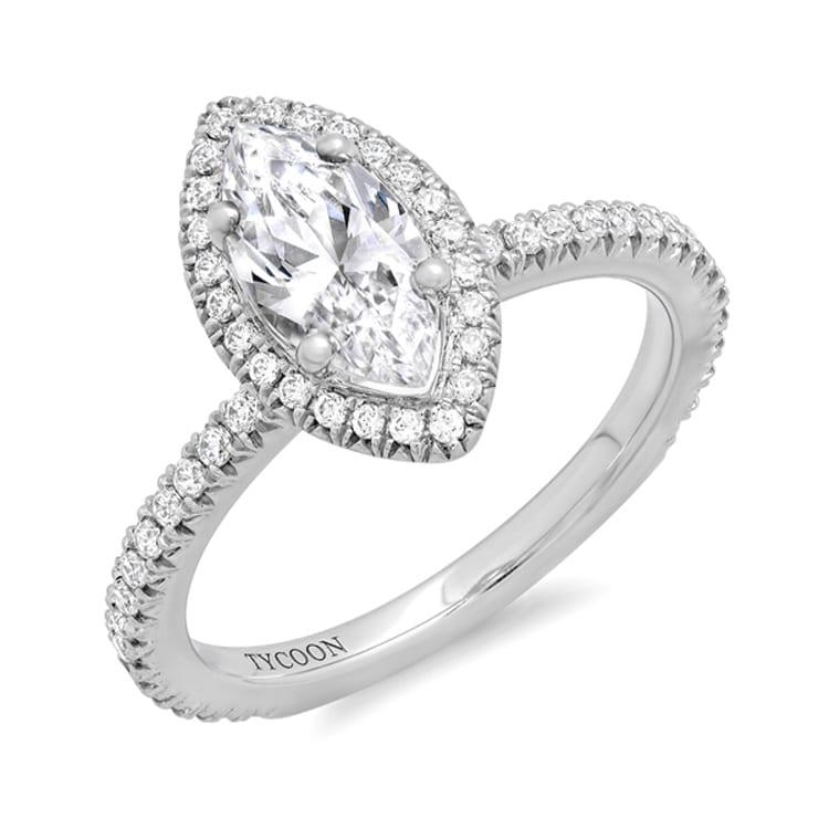 Halo Diamond Engagement ring RNG01963
