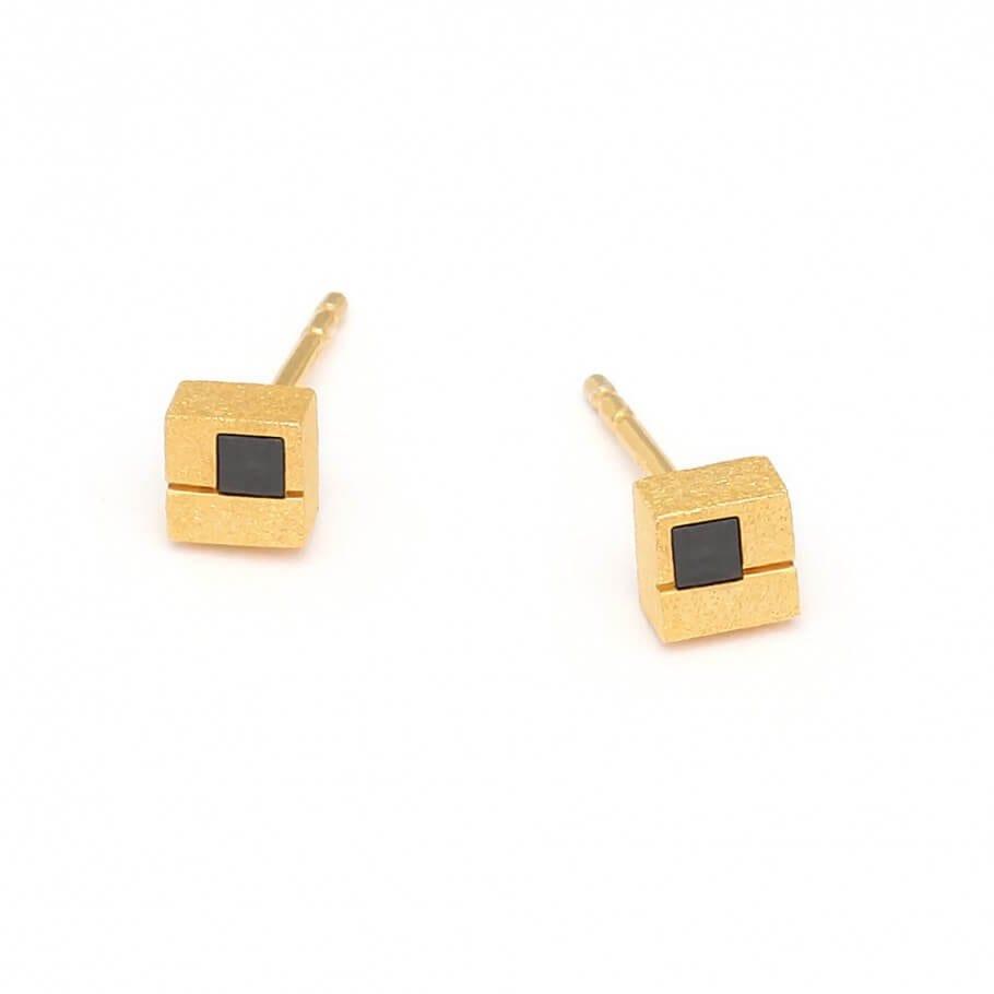 Silver Hematine earrings