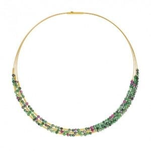 Sterling Ruby Zoisite necklace