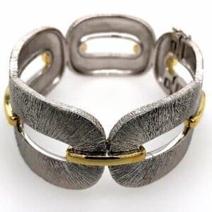 Two Tone Silver Bracelet