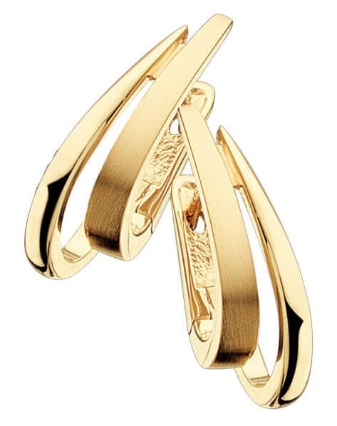 Yellow Gold Plated Silver Earrings