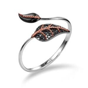 Silver & Gold leaf bracelet