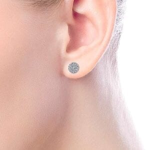 diamond pave stud earrings