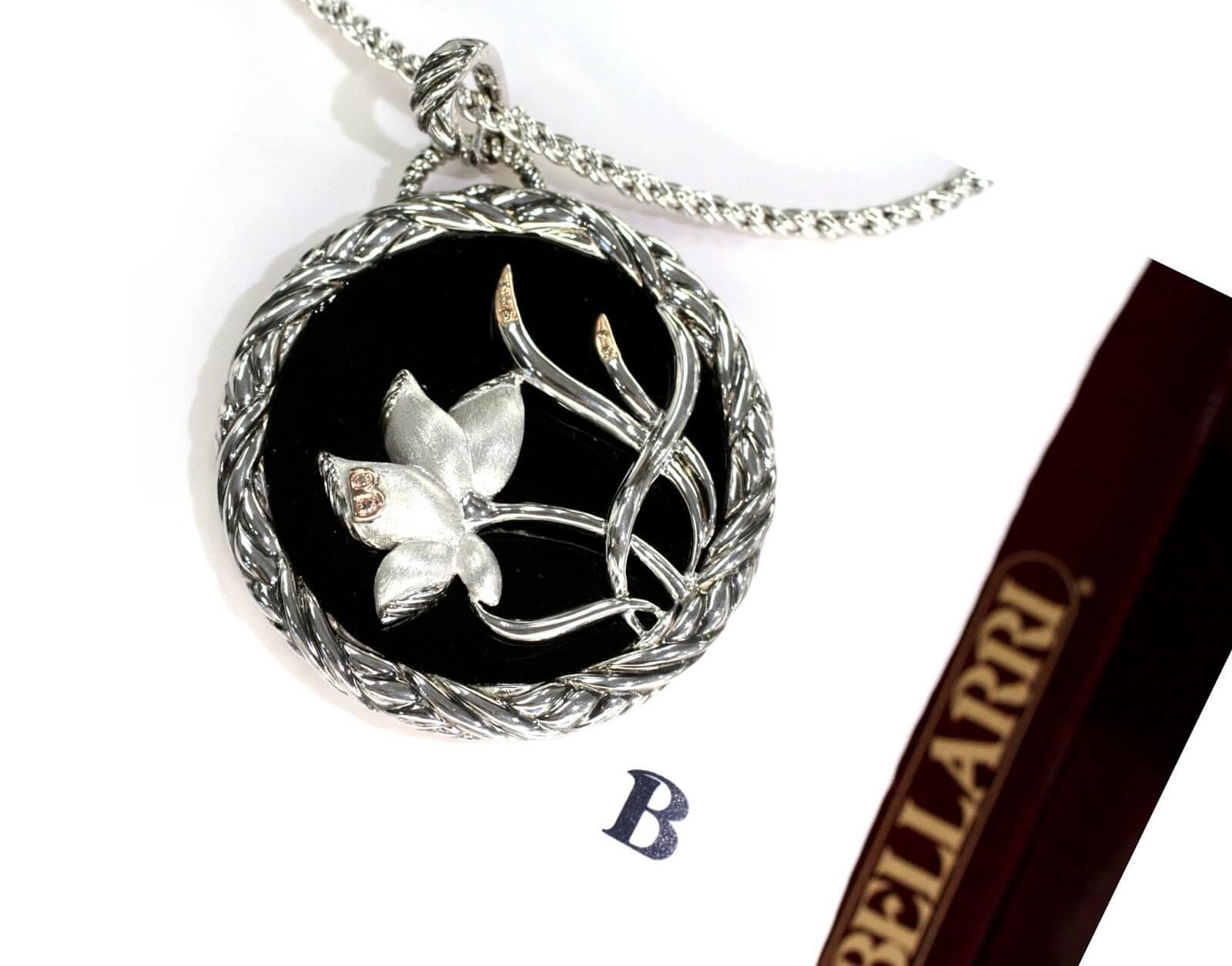 Bellarri Silver onyx pendant