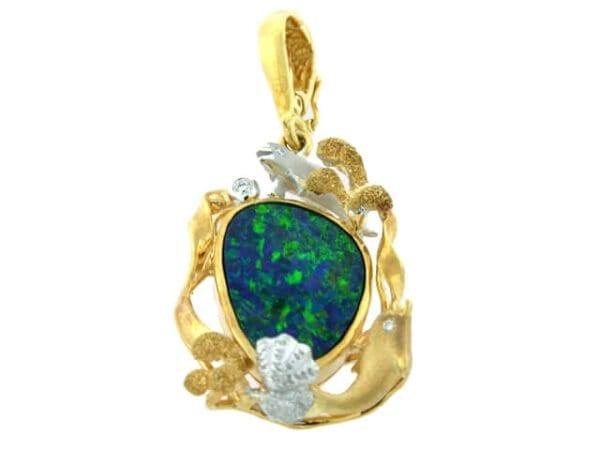 Denny Wong Dolphin Opal pendant