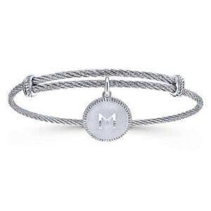 Silver Initial bracelet