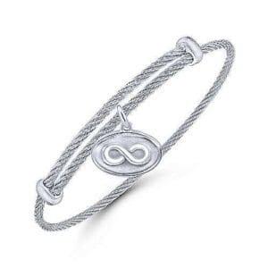 Infinity Silver charm bracelet