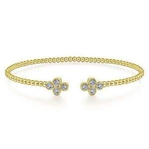 Yellow Gold diamond bangle bracelet