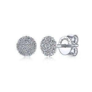 diamond pave earrings