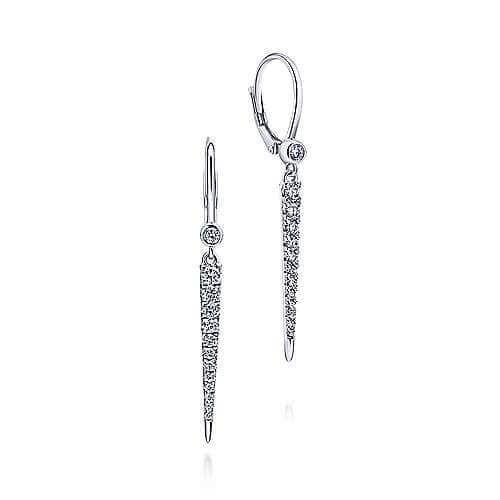 diamond spike earrings