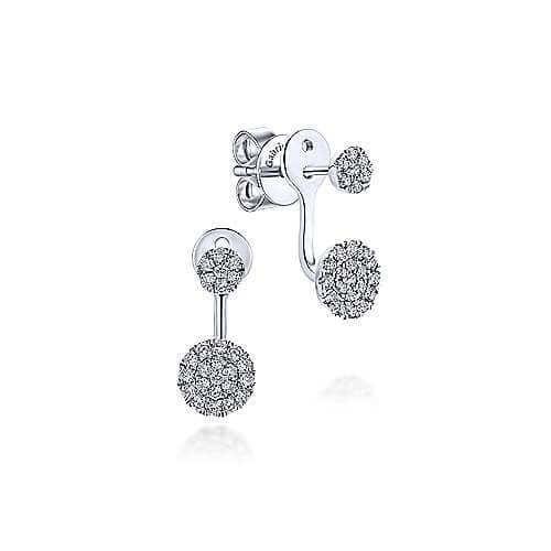 circle diamond earrings