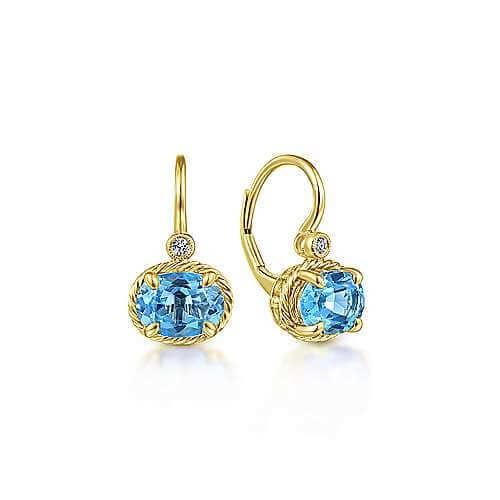 blue topaz gold earrings
