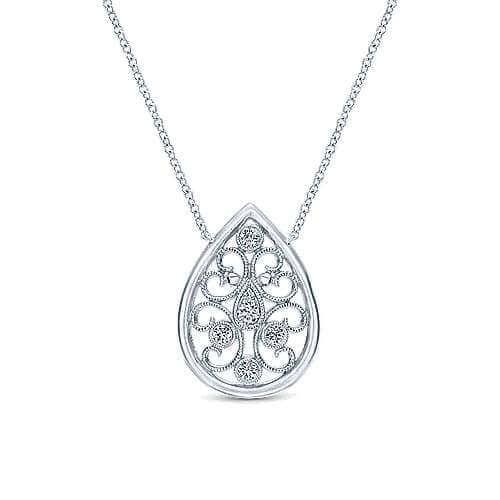 925 Silver diamond necklace