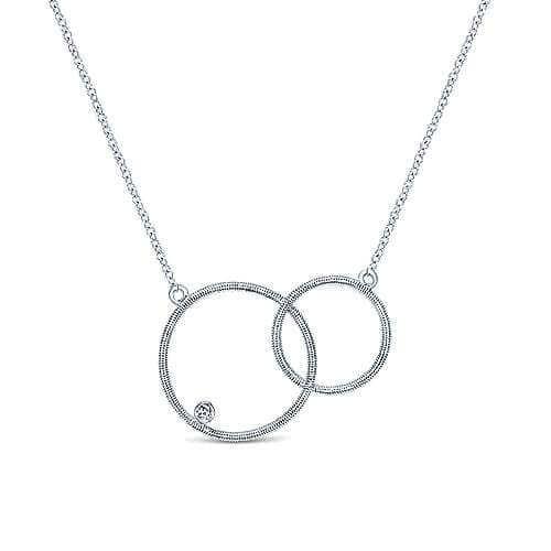 925 silver double loop necklace