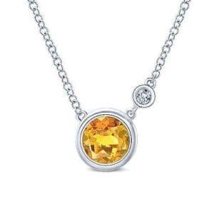 925 Silver Citrine pendant
