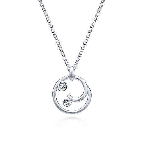 925 Silver Swirl Pendant