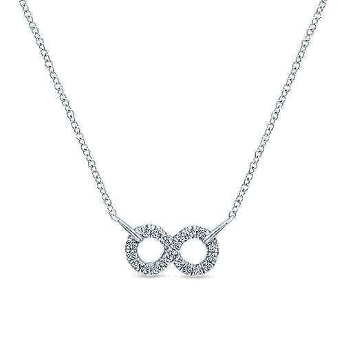 925 Silver infinity necklace