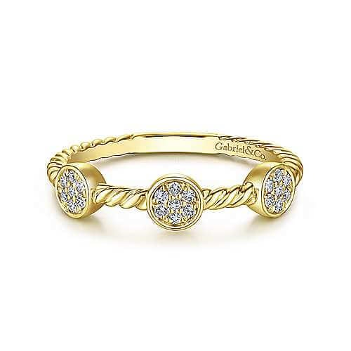 yellow gold twisted rope diamond ring