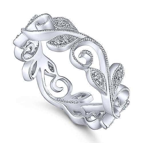 floral diamond band